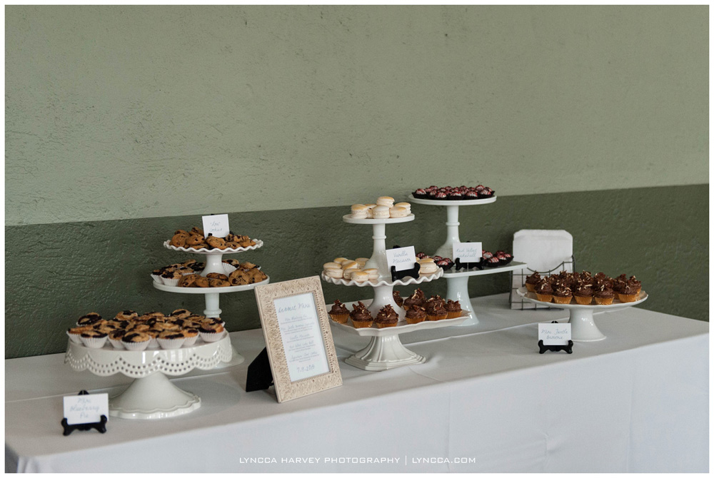 Dessert bar for Dallas Wedding at Old Red Courthouse Museum