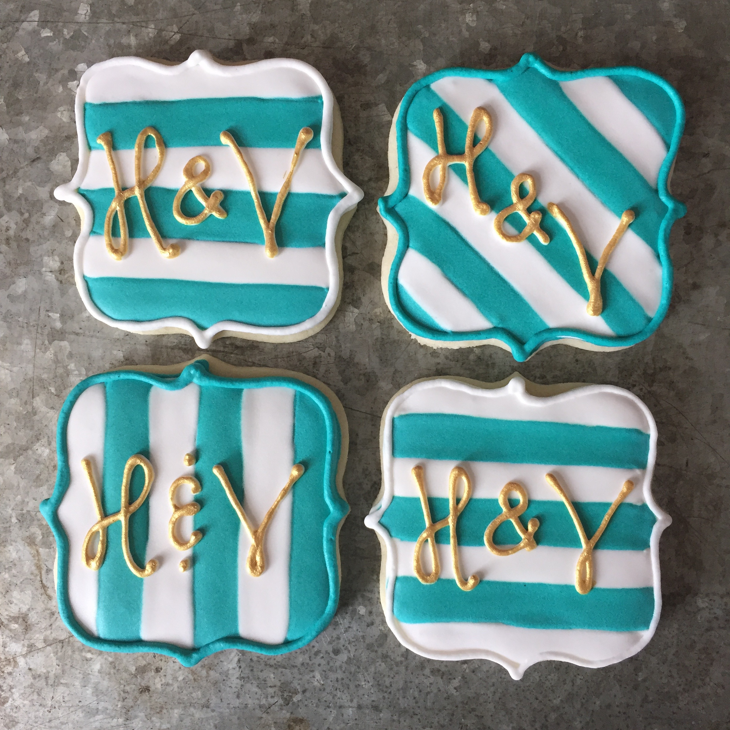 Dallas Fort Worth Bakery decorated cookies and dessert bars for weddings baby showers bridal showers and events