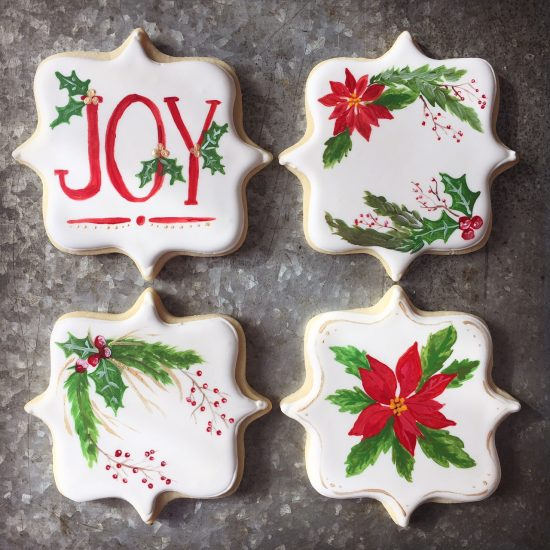 Hand painted Christmas cookies