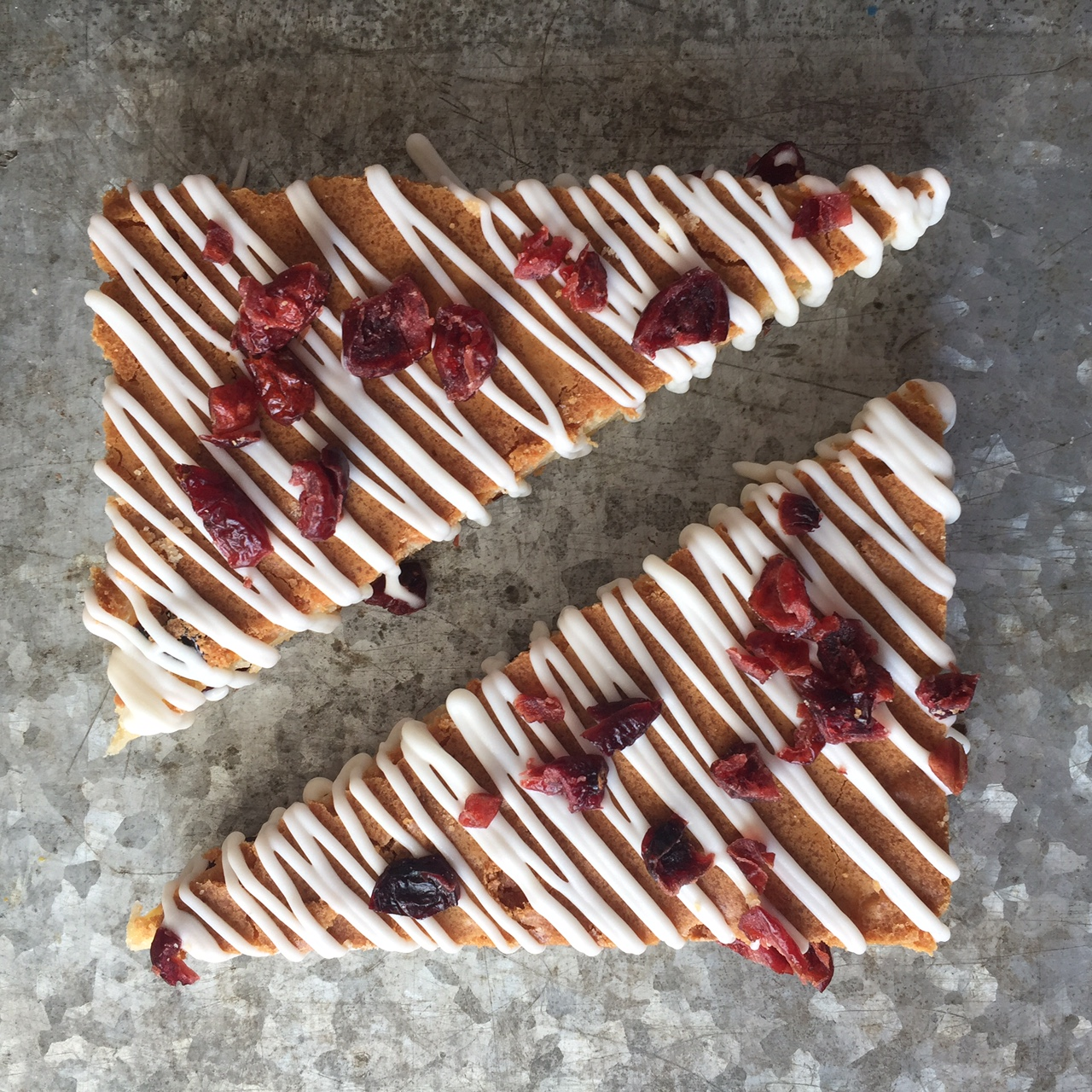 white chocolate cranberry brownie